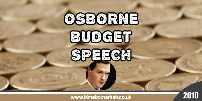 Osborne Budget Speech