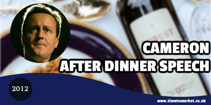 Cameron after-dinner speech