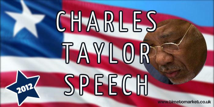 Charles Taylor speech