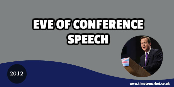 Eve of conference speech