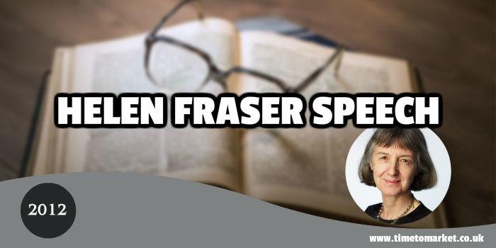 Helen Fraser Speech