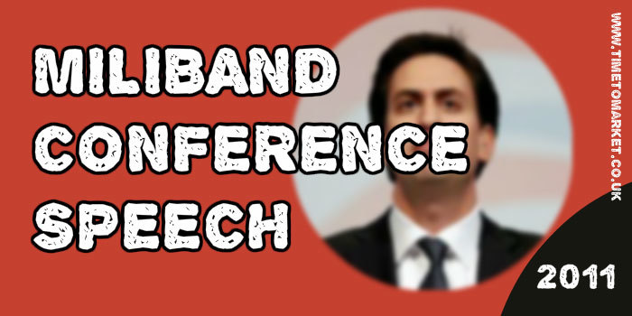 Miliband conference speech