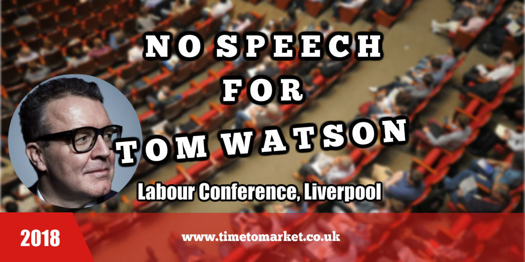 No speech for Tom Watson