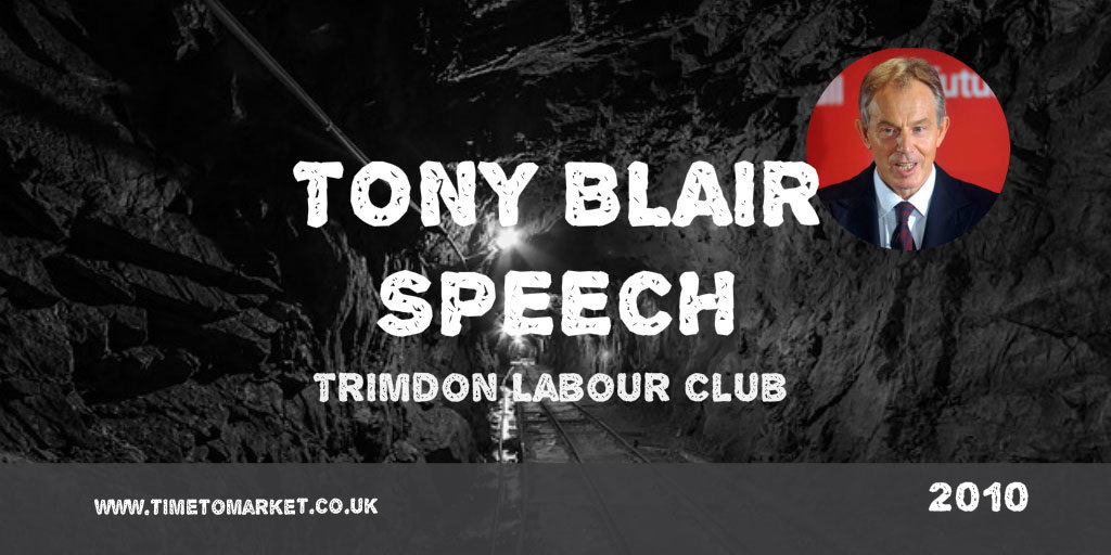 Tony Blair speech