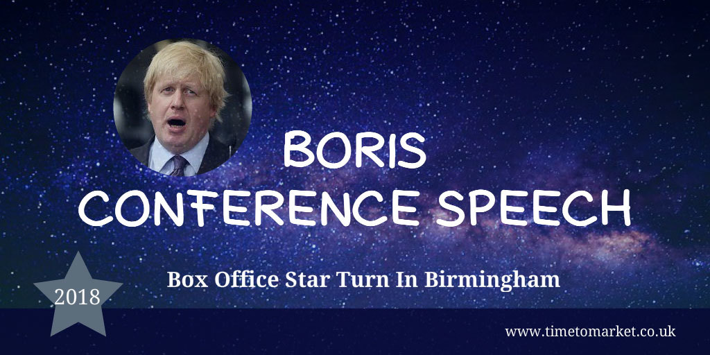 Boris conference speech
