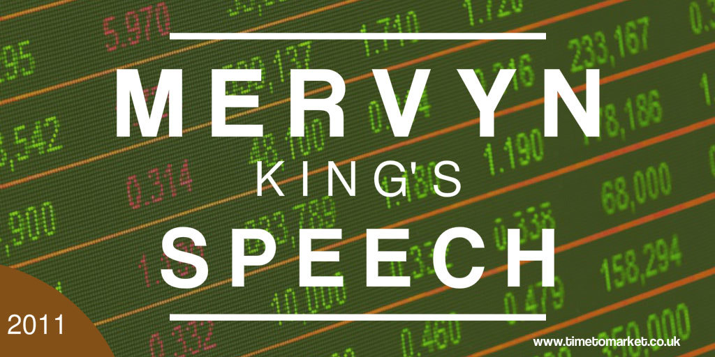 Mervyn King's speech