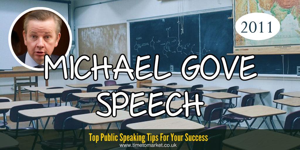Michael Gove speech
