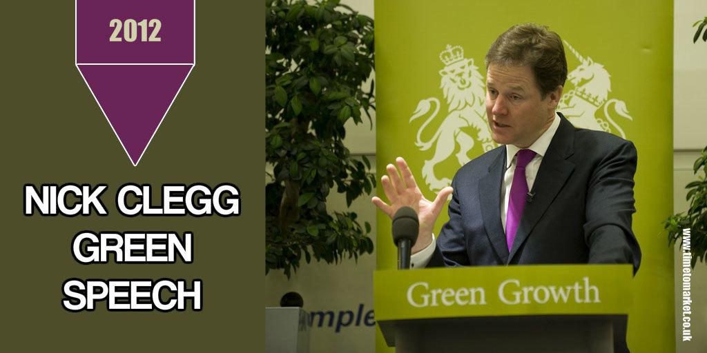 Clegg green speech