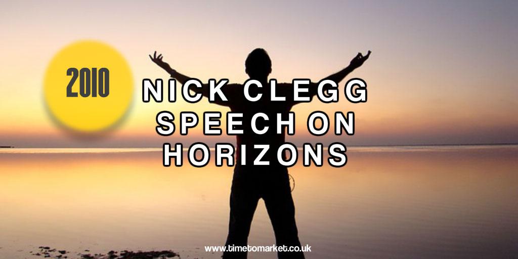 Nick Clegg speech aims