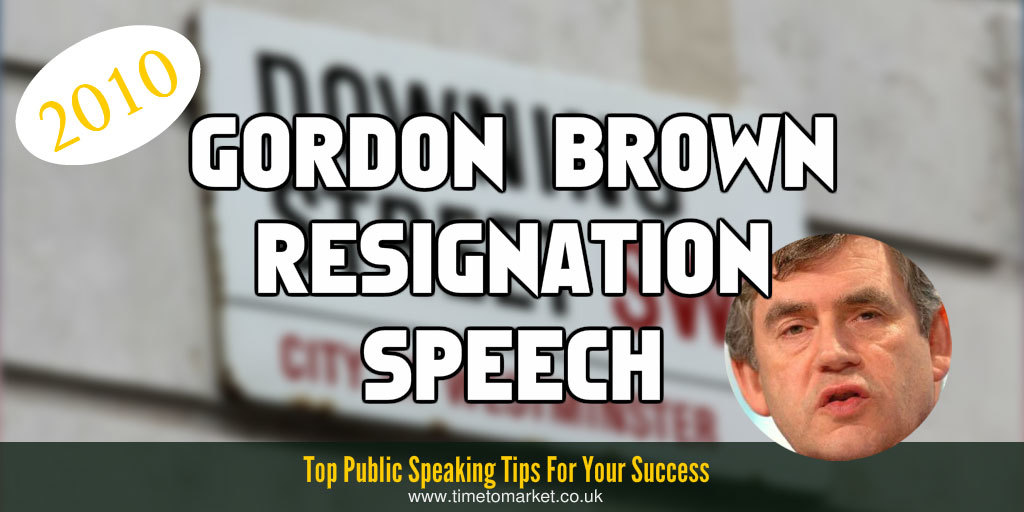 Brown resignation speech
