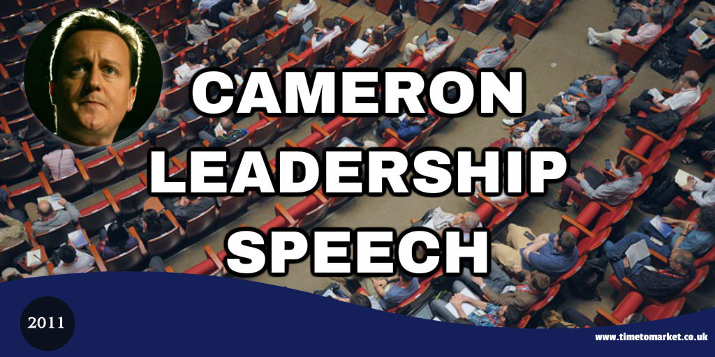 Cameron leadership speech