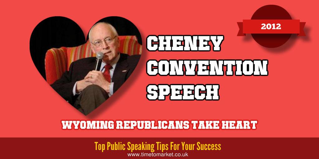 Cheney convention speech