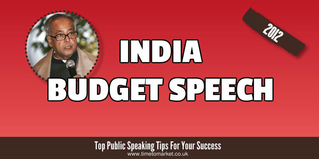 India budget speech