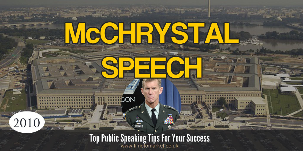 McChrystal speech