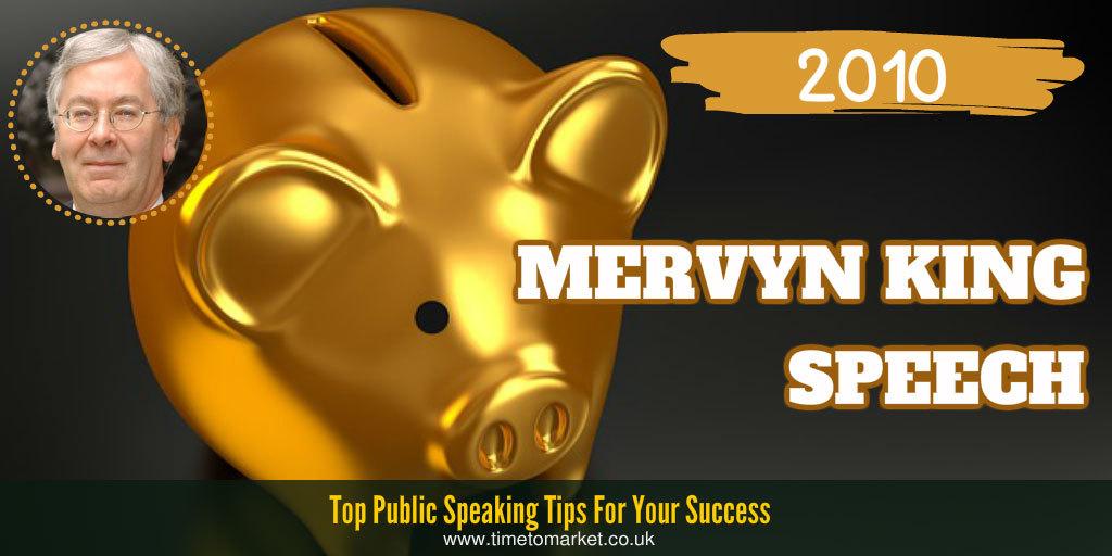 Mervyn King speech