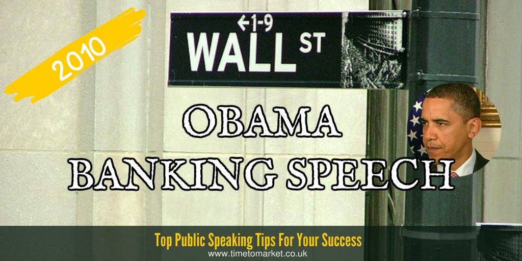 Obama banking speech