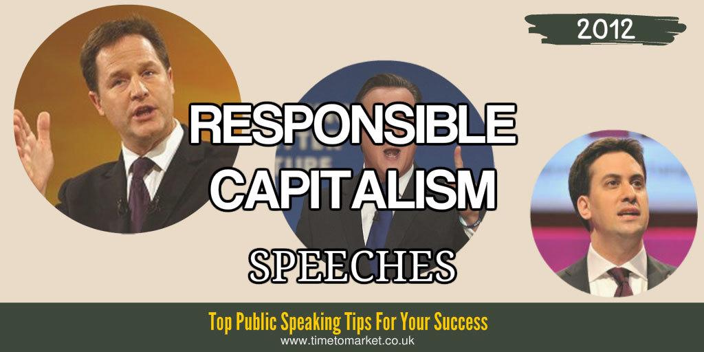 Responsible capitalism speeches