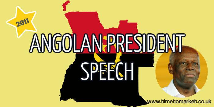 Angolan president speech