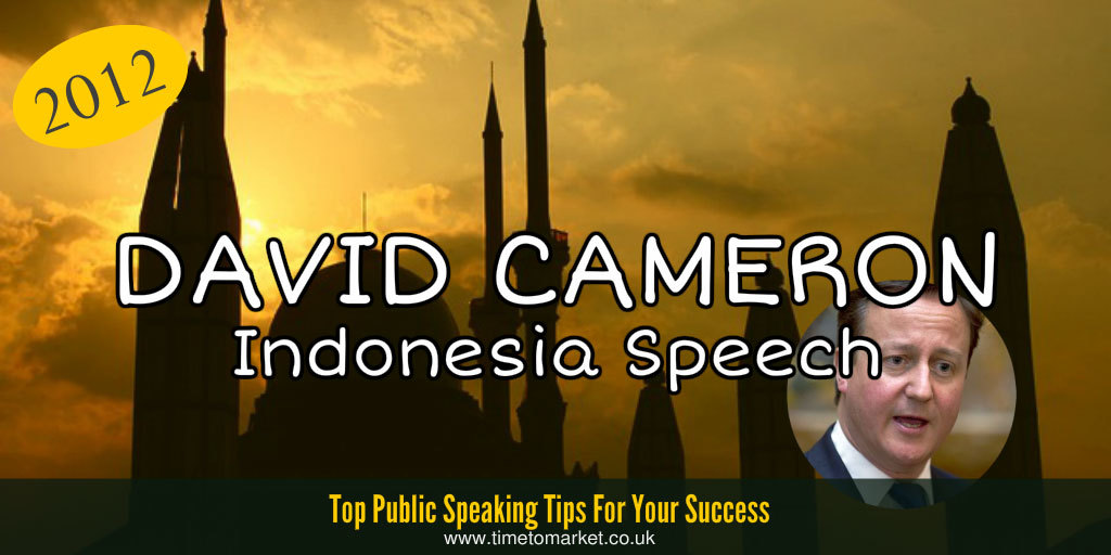 David Cameron Indonesia speech