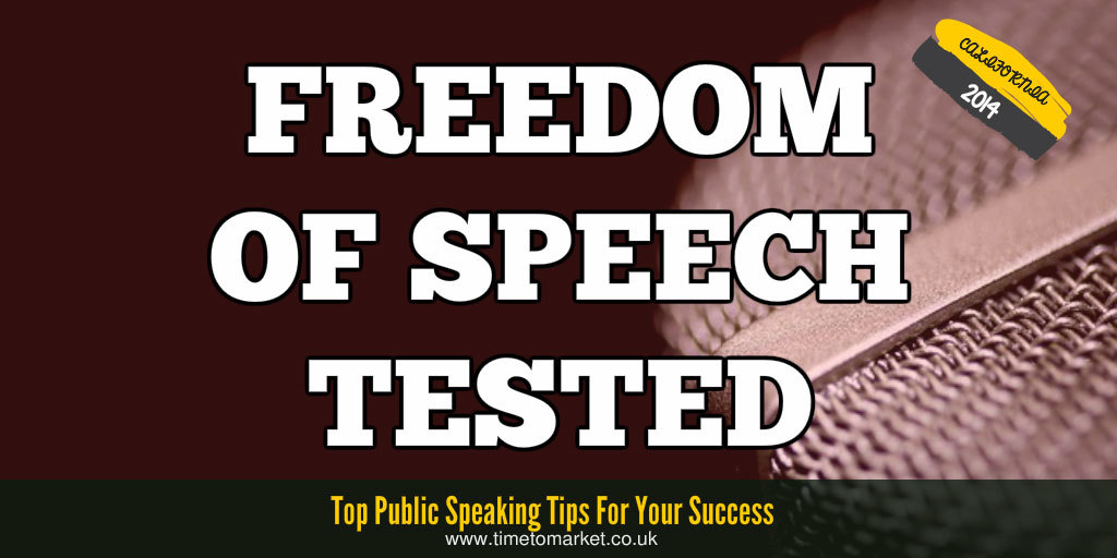 Freedom of speech tested