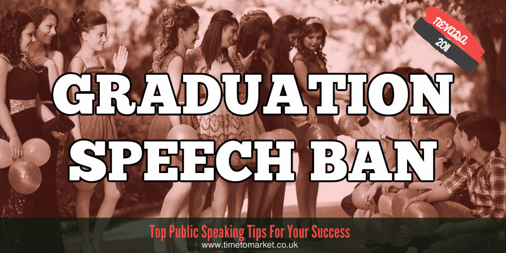 Graduation speech ban