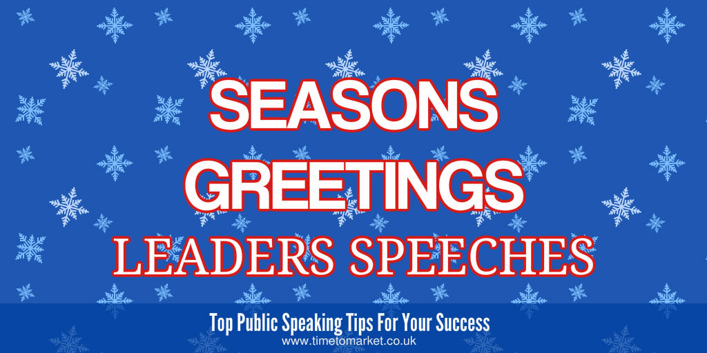 Leaders speeches