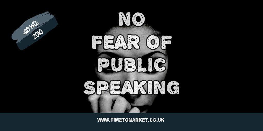 no fear of public speaking