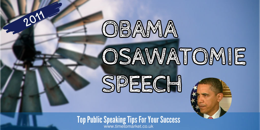 Obama Osawatomie speech