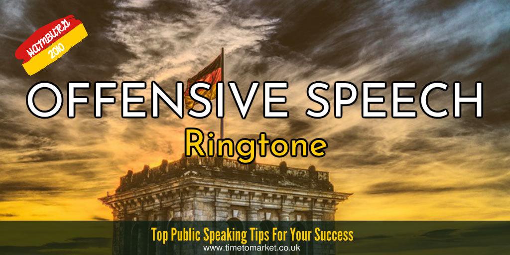 Offensive speech