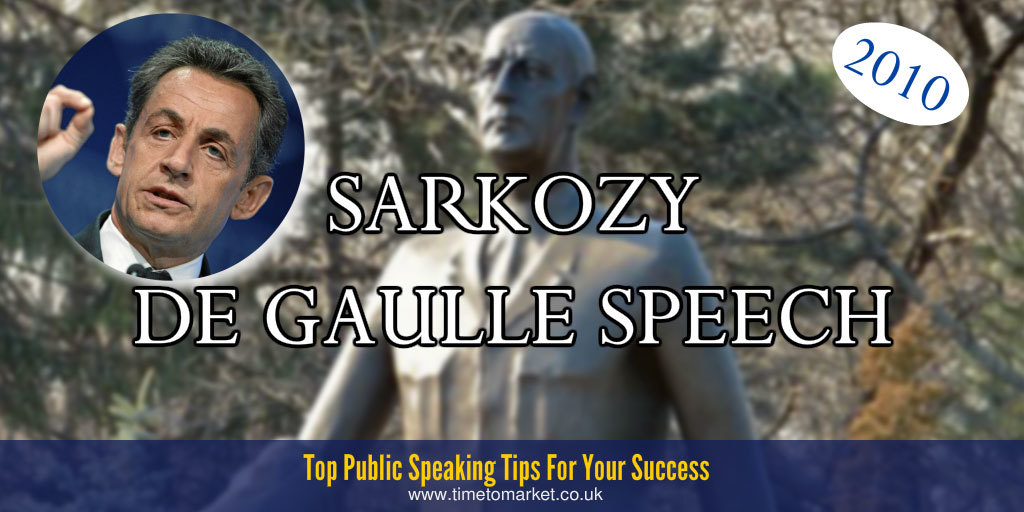 Sarkozy de Gaulle speech