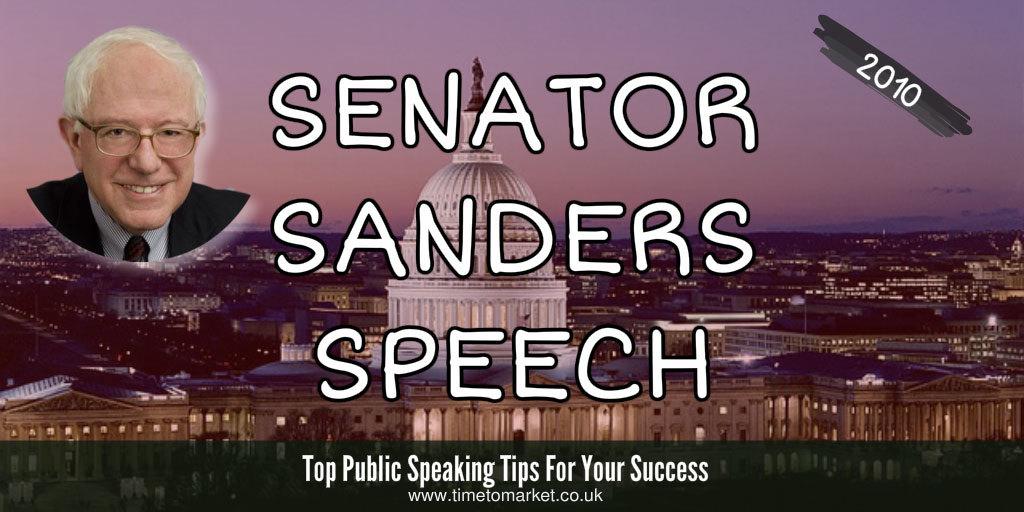 Senator sanders speech