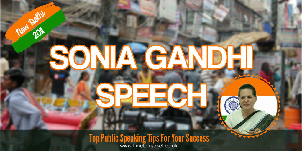 Sonia Gandhi speech