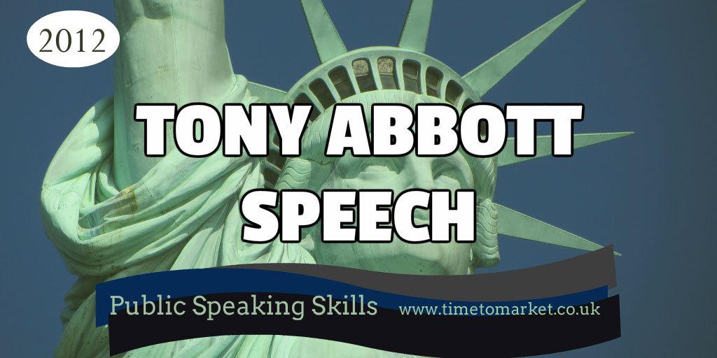 Tony Abbott speech