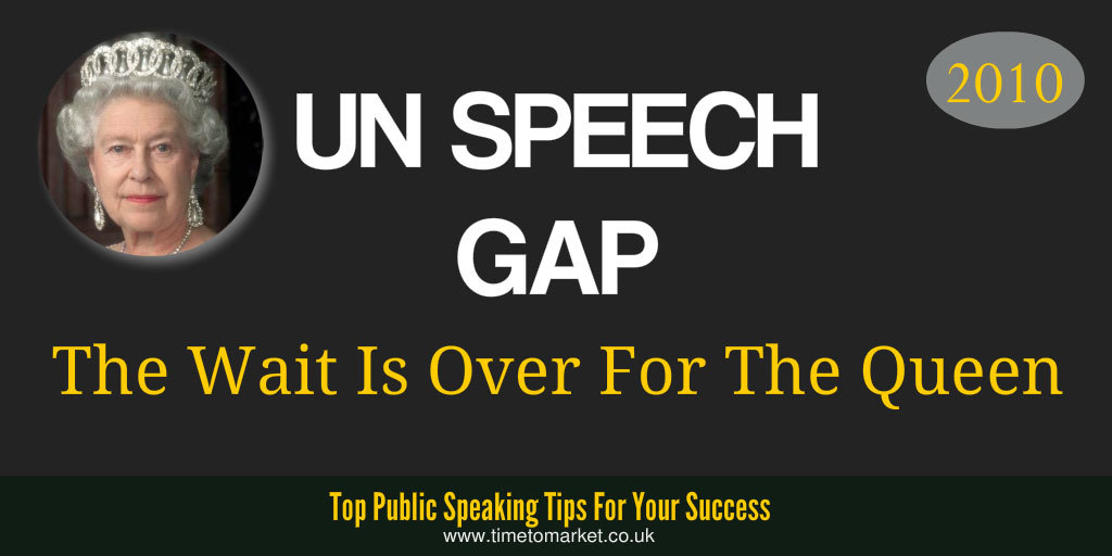 UN speech gap