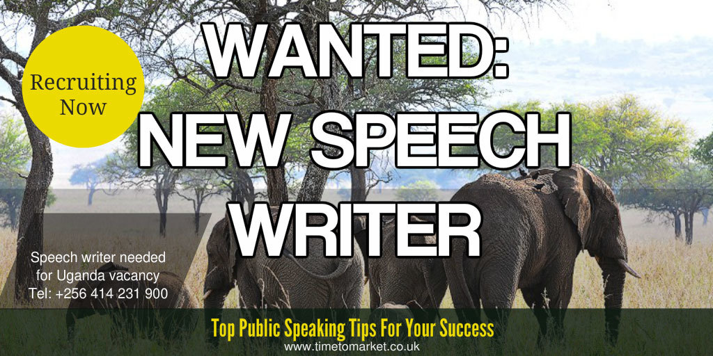 Uganda speech writer