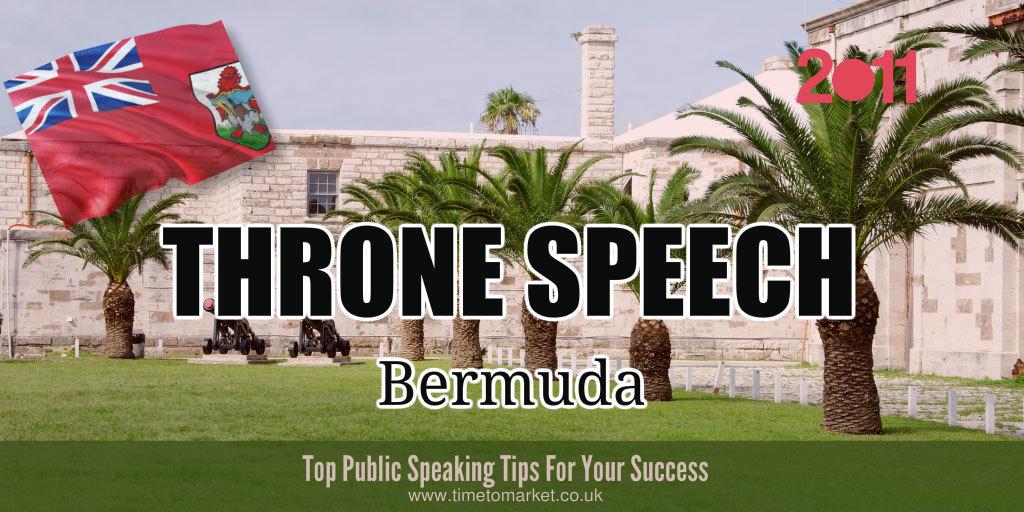 Throne speech in Bermuda