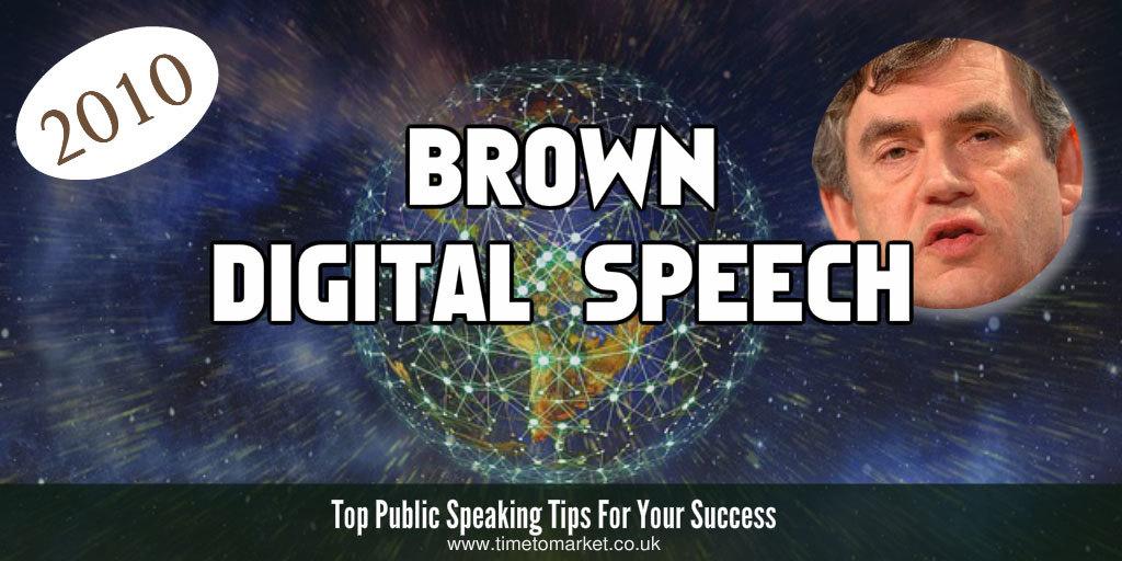 Brown digital speech