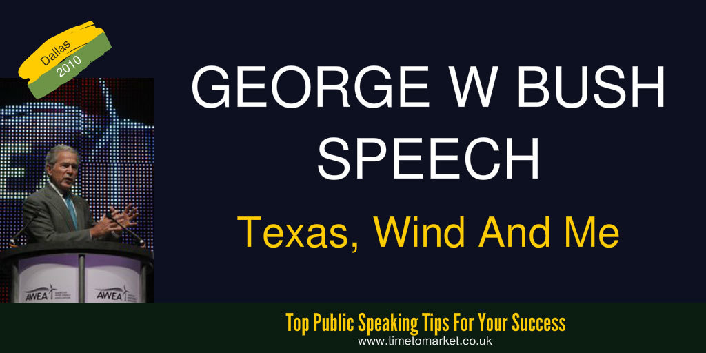 George Bush speech