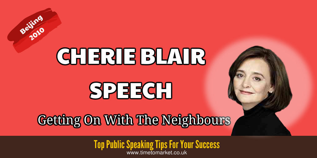 Cherie Blair speech