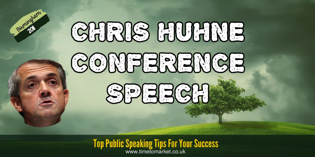 Chris Huhne Conference Speech