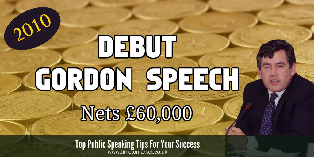 Debut gordon speech