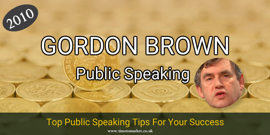 Gordon Brown public speaking