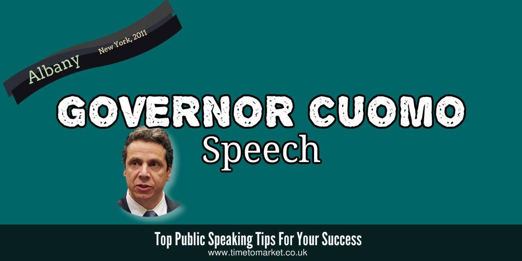 Governor Cuomo speech