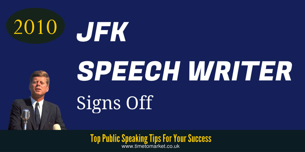jfk speech writers