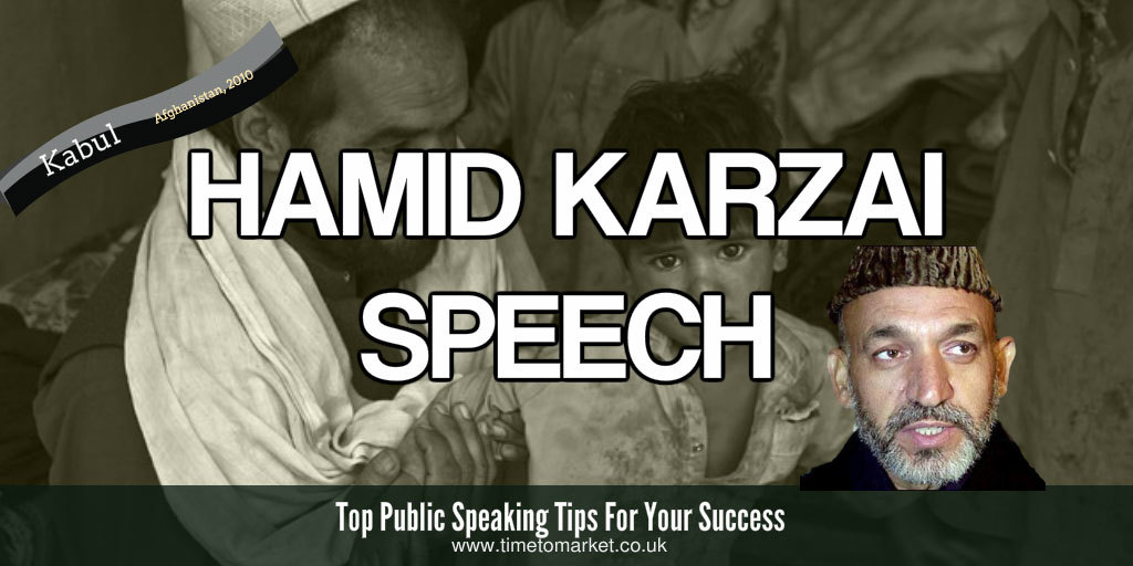 Hamid Karzai speech