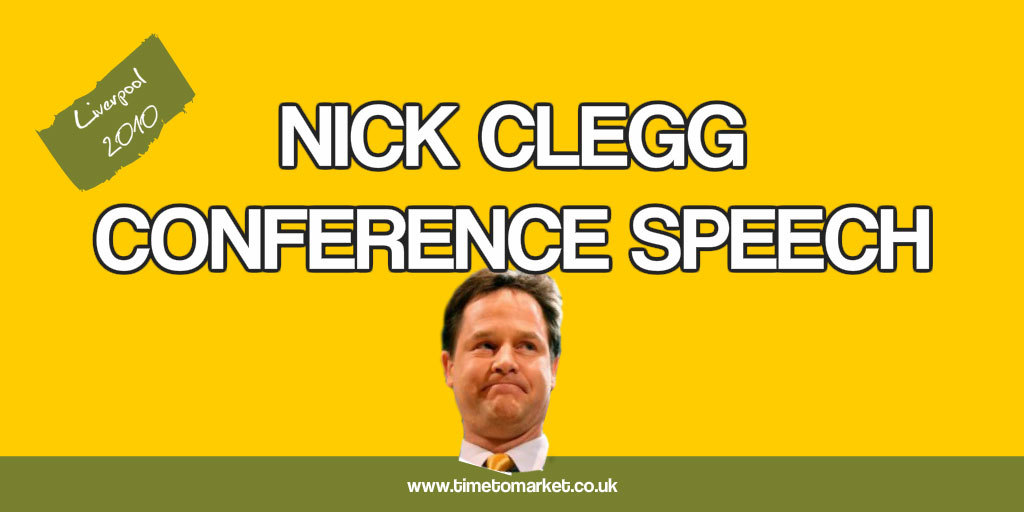 Nick Clegg conference speech