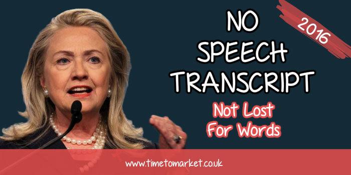 No speech transcript