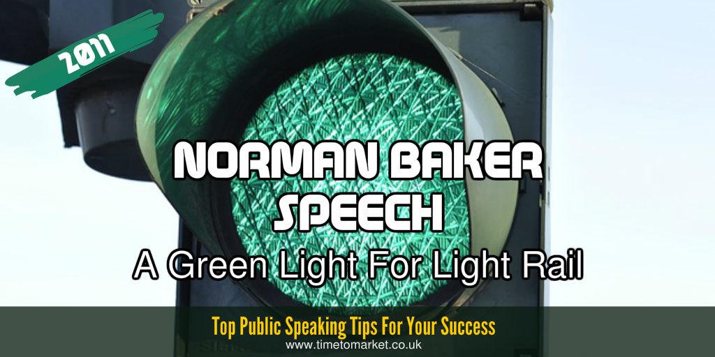 Norman Baker speech