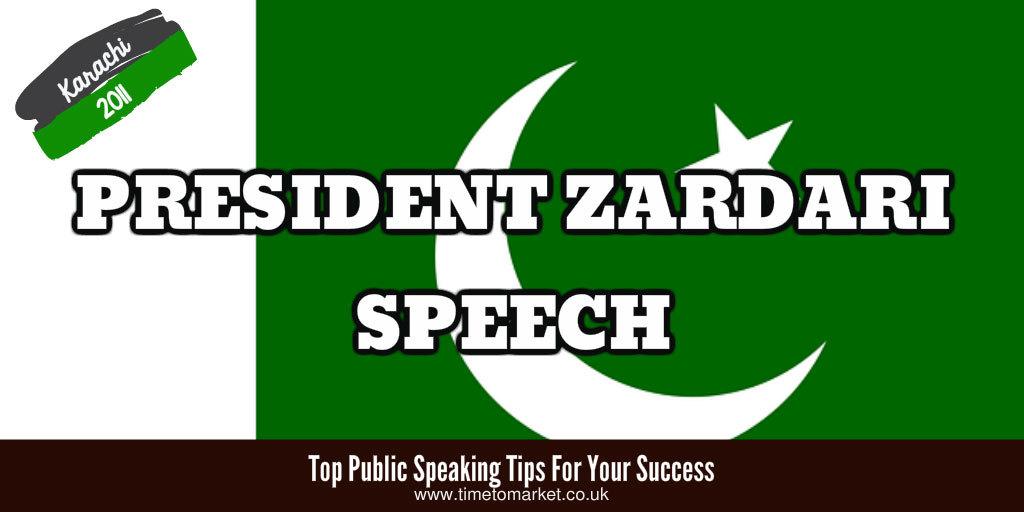 President Zardari speech