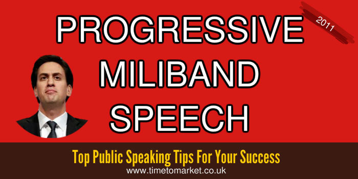 Progressive Miliband speech